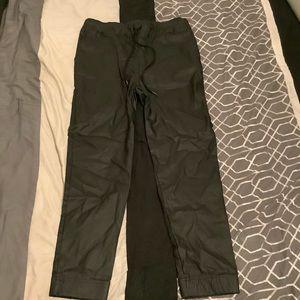 Black Leather Jogging Pants